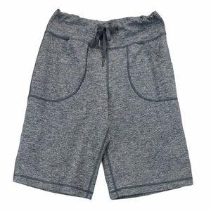 Lululemon size 4 grey heathered bike shorts